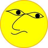 Trevligt vända mot emojien stock illustrationer