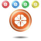 Trevo, botão, ilustração 3D Fotografia de Stock