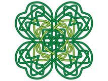 trevo da Quatro-folha, ornamento do vetor Fotografia de Stock Royalty Free