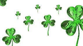 Trevo do efeito do dia 3d de St Patrick sobre o fundo do espaço Cumprimento decorativo sujo ou cartão Bandeira simples para o loc Foto de Stock