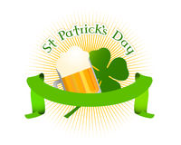 Trevo do fundo do dia do St. patrick Imagem de Stock Royalty Free