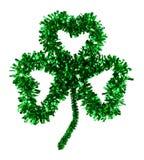Trevo irlandês feito a mão macio do trevo de três folhas Imagem de Stock