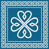 Trevo - nó celta, símbolo irlandês tradicional, vetor Fotos de Stock