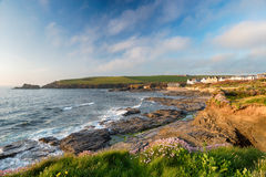 Trevone Bay in Cornwall Stock Images