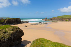 Trevone Bay North Cornwall England UK near Padstow and Newquay Royalty Free Stock Image