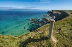 Trevone - linea costiera Regno Unito della Cornovaglia Immagini Stock Libere da Diritti