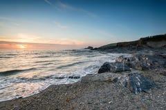 Trevone op de Noord-Cornwall Kust stock foto's