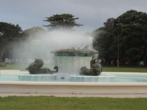 Trevor Moss David Memorial Fountain, Mission Bay, Auckland, New. The trevor moss davis memorial fountain is a prominent piece of history in the town of mission Stock Image