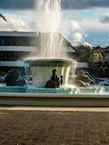 Trevor Moss David Memorial Fountain, Mission Bay, Auckland, New. The trevor moss davis memorial fountain is a prominent piece of history in the town of mission Stock Images