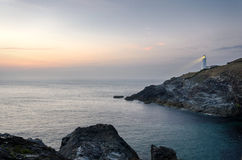 Trevose Head Lighthouse in Cornwall Stock Images