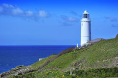 Trevose Head Lighthouse, Cornwall. Stock Photos