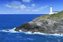 Trevose Head Lighthouse, Cornwall. Royalty Free Stock Photos