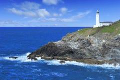 Trevose Head Lighthouse, Cornwall. Royalty Free Stock Photos
