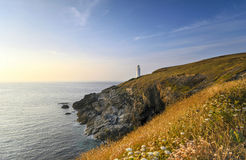 Trevose Head Lighthouse in Cornwall Stock Photo