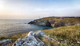 Trevose Head Lighthouse in Cornwall Royalty Free Stock Image