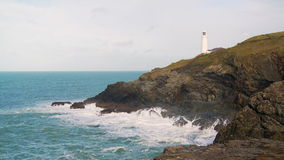 Trevose Head Lighthouse stock video footage