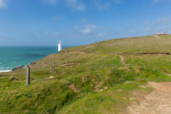 Trevose Head North Cornwall coast between Newquay and Padstow English maritime building Stock Photo
