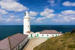 Trevose huvudfyr Cornwall Fotografering för Bildbyråer