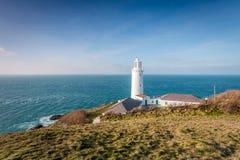 Trevose lighthouse Cornwall england uk. Royalty Free Stock Photo