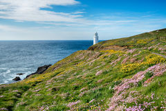 Trevose Lighthouse in Cornwall Royalty Free Stock Photography