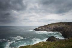 Trevose Lighthouse Stock Photo
