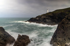 Trevose lighthouse Stock Image