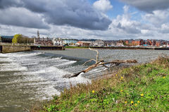 Trews Weir - Exeter Royalty Free Stock Photos