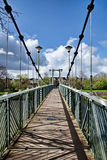 Trews Weir Suspension Bridge Royalty Free Stock Photo