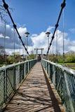 Trews Weir Suspension Bridge Royalty Free Stock Photo