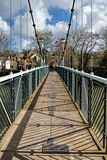 Trews Weir Suspension Bridge Stock Photo