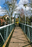 Trews Weir Suspension Bridge Stock Photography