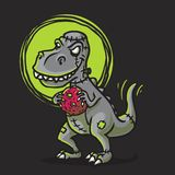 Trex Zombie Cartoon logo vector illustration