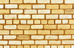 Trexture anaranjado de la pared de ladrillo Foto de archivo libre de regalías