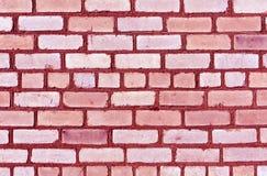 Trexture rosado de la pared de ladrillo Fotografía de archivo libre de regalías