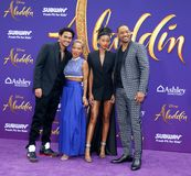 Trey Smith, Jada Pinkett Smith, Willow Smith and Will Smith. At the Los Angeles premiere of `Aladdin` held at the El Capitan Theatre in Hollywood, USA on May 21 stock images