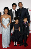 Trey Smith, Will Smith, Jada Pinkett Smith, Willow Smith och Jaden Smith Royaltyfri Fotografi