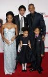 Trey Smith, Will Smith, Jada Pinkett Smith, Willow Smith och Jaden Smith Royaltyfri Fotografi