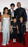 Trey Smith, Will Smith, Jada Pinkett Smith, Willow Smith och Jaden Smith Arkivfoto