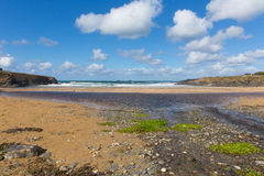 Treyarnon Bay beach Cornwall England UK Cornish north coast between Newquay and Padstow Royalty Free Stock Photos