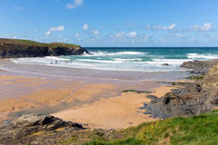 Treyarnon Bay Cornwall England UK Cornish north coast between Newquay and Padstow Stock Photo