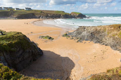 Treyarnon Bay Cornwall England UK Cornish north coast between Newquay and Padstow Stock Photo