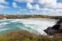 Treyarnon Bay Cornwall England UK Cornish north coast between Newquay and Padstow Royalty Free Stock Images