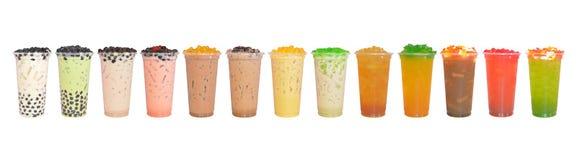 Treze copos do chá Fotografia de Stock