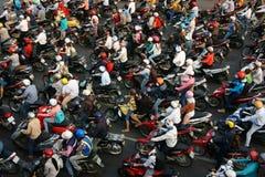 Tráfico asombroso de la ciudad de Asia Fotos de archivo libres de regalías