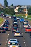 Tráfico de autopista Imágenes de archivo libres de regalías
