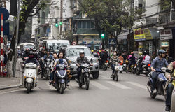 Tráfico de Hanoi Fotos de archivo libres de regalías