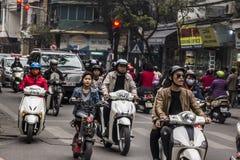Tráfico de Hanoi Foto de archivo libre de regalías