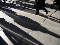 Tráfico de la gente de New York City Wall Street Fotos de archivo libres de regalías