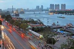 Tráfico de la última hora de la tarde en Ho Chi Minh City. Imagen de archivo