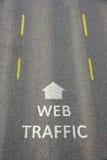 Tráfico del Web Imagenes de archivo